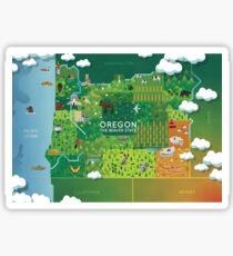 Oregon Map Sticker