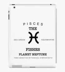 February March Birthday Gifts   Born In February March Pisces Gift Zodiac Sign Horoscope iPad Case/Skin