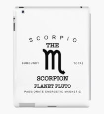 October November Birthday Gifts   Born In October November  Scorpio Gift Zodiac Sign Horoscope iPad Case/Skin