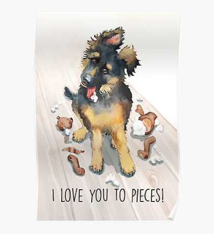 I Love You To Pieces! Poster
