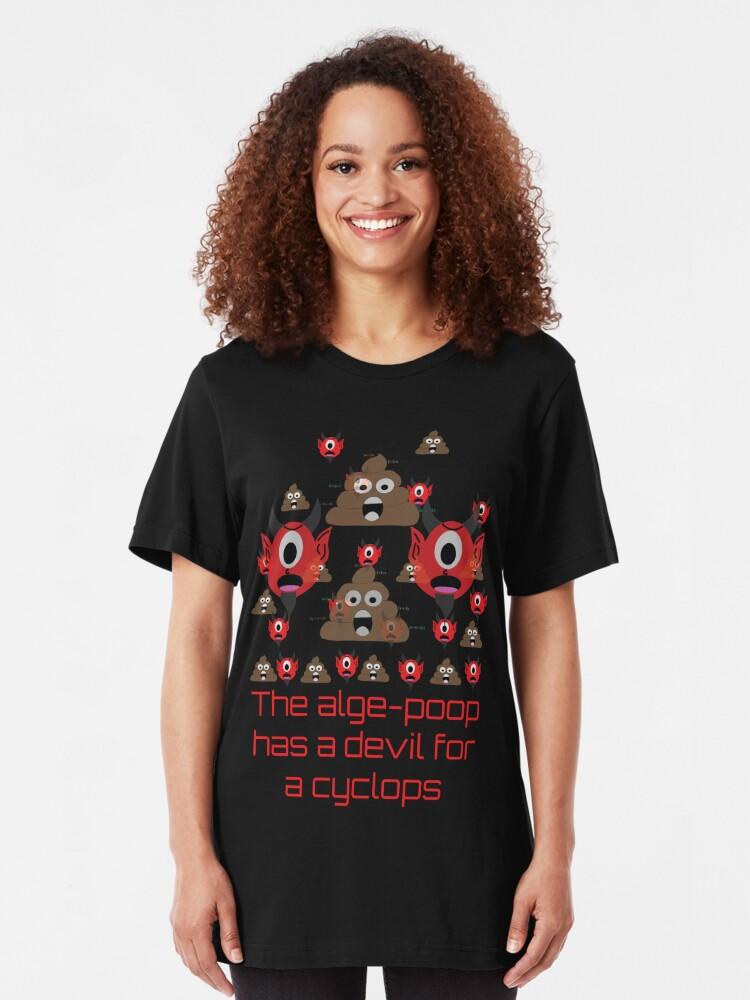 Alternate view of Algepoopian rhapsody (Misheard Song Lyric) Slim Fit T-Shirt