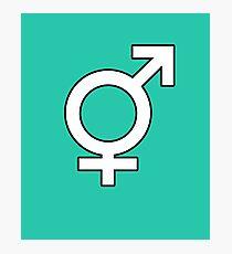 Gender Symbol Photographic Print