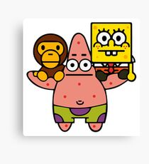 Baby Milo Spongebob Canvas Print
