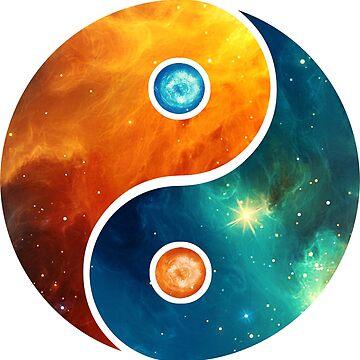 Yin Yang, espacio, cosmos, galaxia, universo, espacio extraterrestre de boom-art