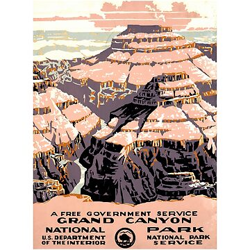 Grand Canyon National Park - Vintage Travel Poster Design by Chunga