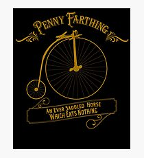 Penny Farthing  Vintage Bike Photographic Print