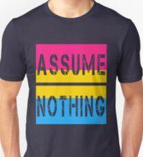 Pansexual Pride Flag Assume Nothing Pan Awareness Unisex T-Shirt