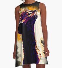 gxp savannah katze vektor kunst sonnenuntergang A-Linien Kleid