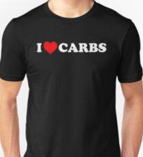 Funny I Love Carbs I Heart Carbs Food Lover T Shirt Unisex T-Shirt