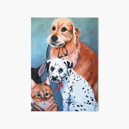Furry Friends 2 Art Board Print