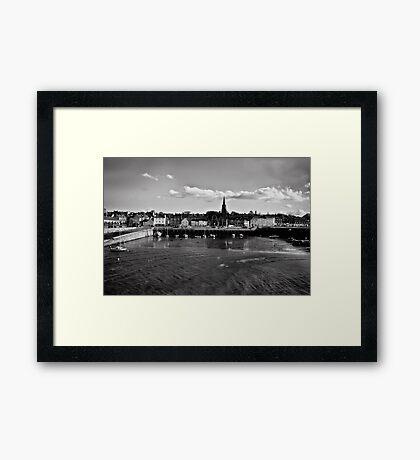 Newhaven in Black & White Framed Print