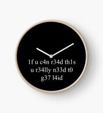 If you can read this Clock