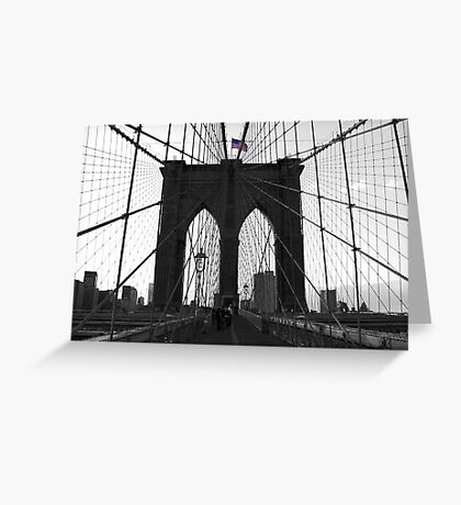 Bridge over troubled water (B&W) Greeting Card