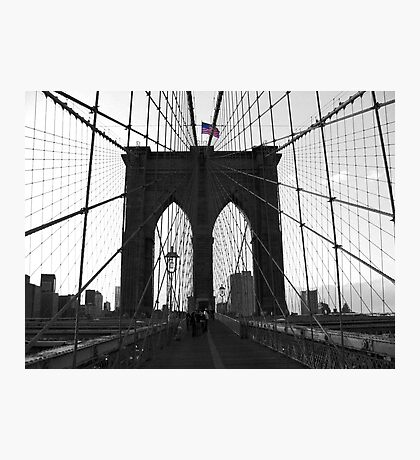 Bridge over troubled water (B&W) Photographic Print