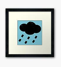 Rain Cloud Sign Framed Print
