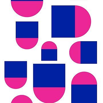 Pop Abstract Pink Blue Pattern Art Design by signorino