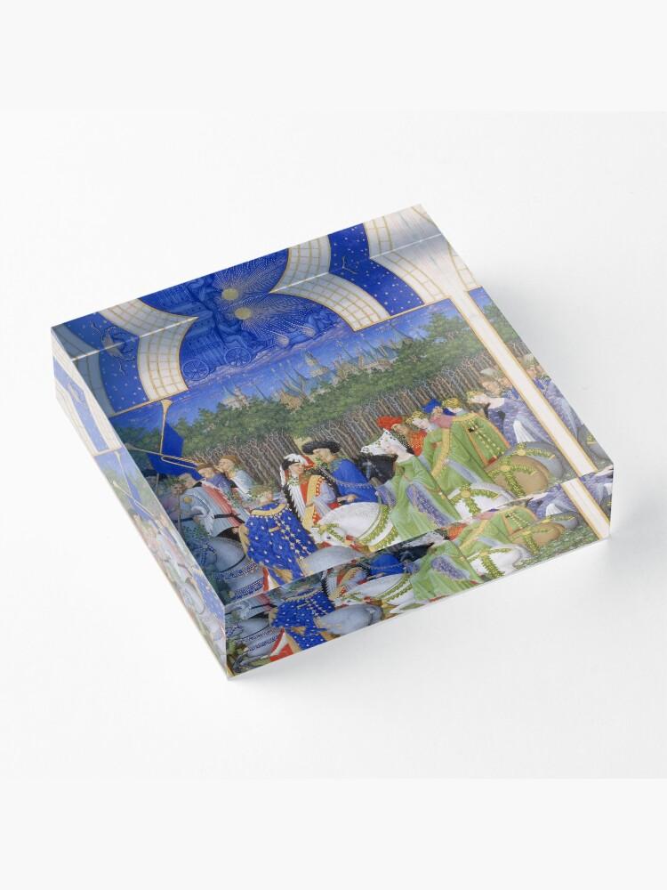 Alternate view of Les Très Riches Heures du duc de Berry 15th Century by Frères de Limbourg Acrylic Block