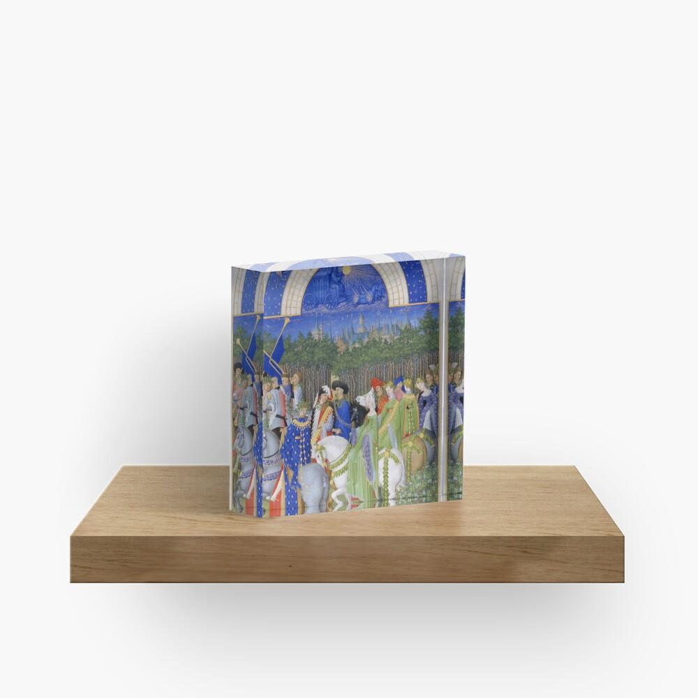 Les Très Riches Heures du duc de Berry 15th Century by Frères de Limbourg Acrylic Block