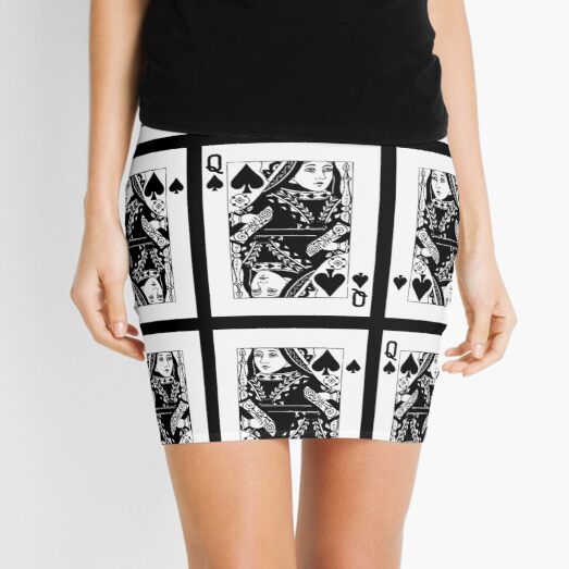 QUEEN OF SPADES Mini Skirt
