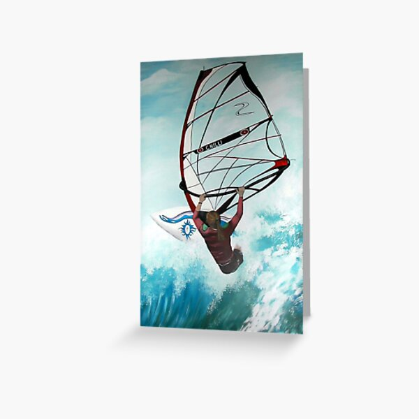 Windsurfing Greeting Card