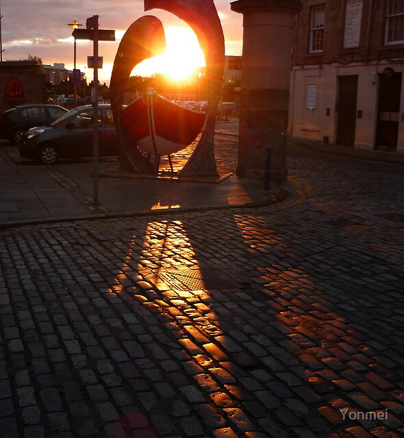 Sunset in Leith by Yonmei