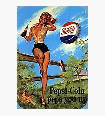 Pepsi Pin-Up Girl Photographic Print