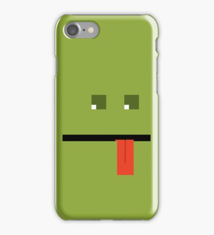 Green Block Face iPhone Case/Skin
