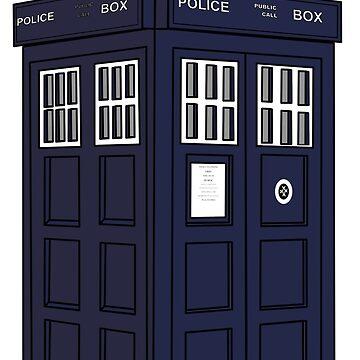 British Police Phone Box - aka Dr Who TARDIS by Planet71