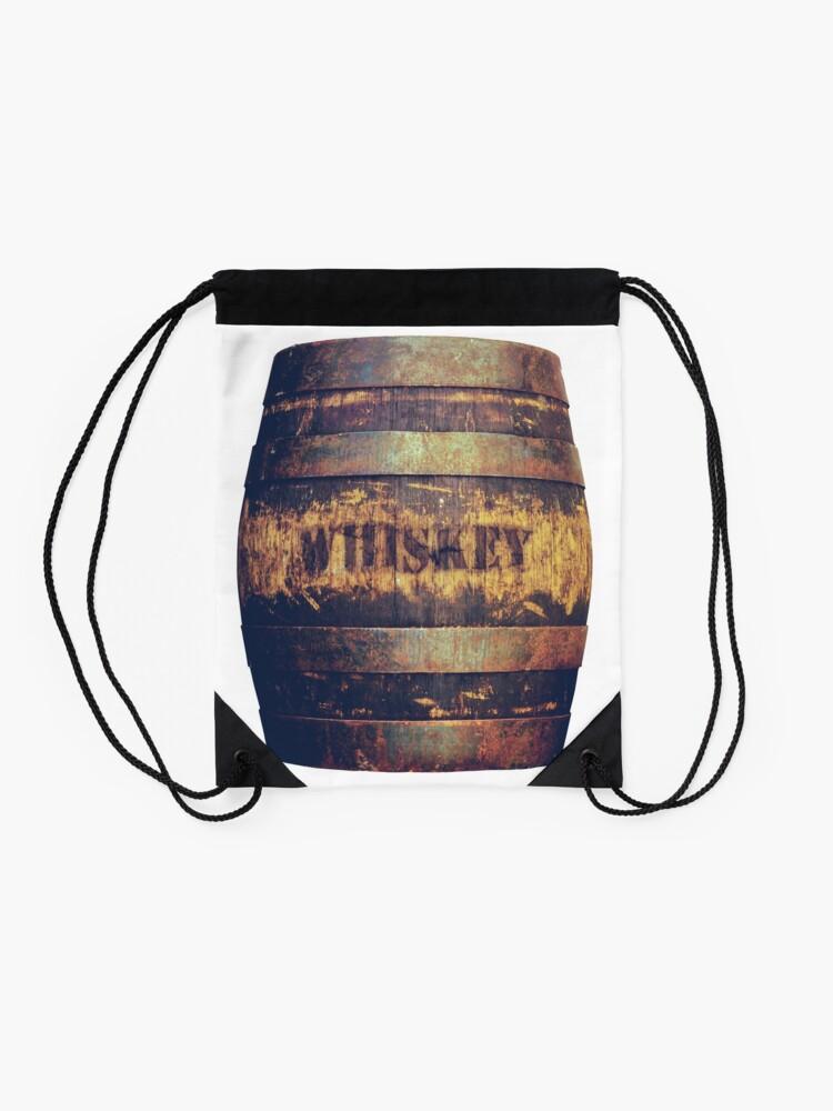 Alternate view of Rustic American Whiskey Barrel Drawstring Bag