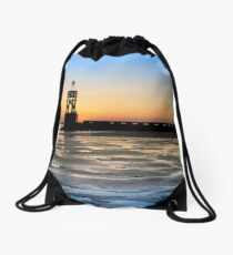 Seaside, Sunsets and Silhouettes Drawstring Bag