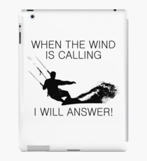 When the wind is calling iPad Case/Skin