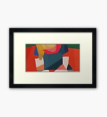 Composition in red tones Framed Print