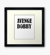 Avenge Dobby black Framed Print