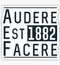 Audere Est Facere Sticker