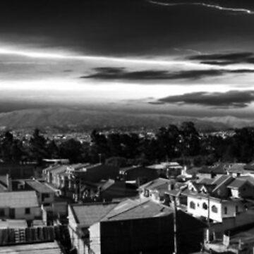 Night Panorama of Cuenca, Ecuador IV by alabca