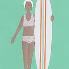 Just a little pose before a surf! by Sandy Mitchell