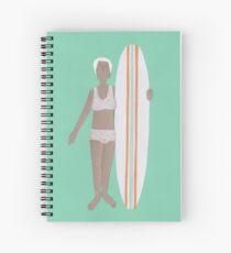 Just a little pose before a surf! Spiral Notebook