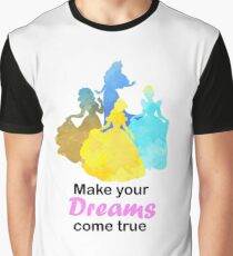 Make your Dreams come true Inspired Silhouette Graphic T-Shirt