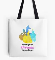 Make your Dreams come true Inspired Silhouette Tote Bag