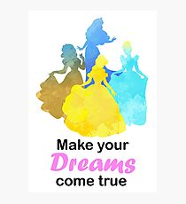Make your Dreams come true Inspired Silhouette Photographic Print