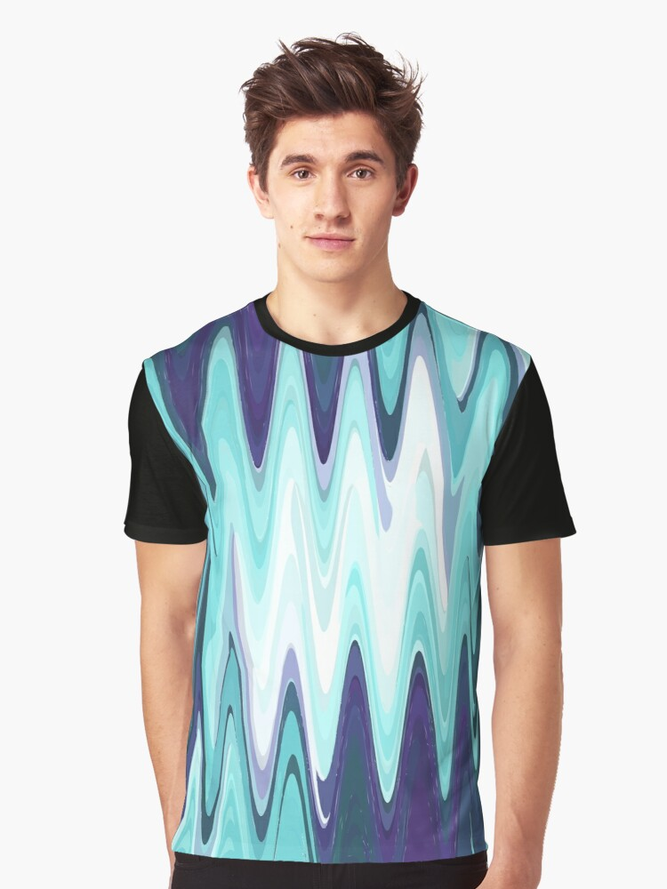 Waves Graphic T-Shirt Front