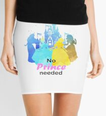 No Prince Needed Inspired Silhouette Mini Skirt