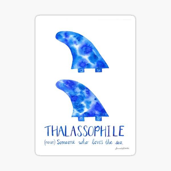 Surfboard Fins - Thalassophile Sticker