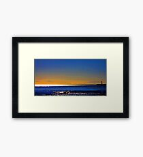 Twilight - evening by the sea Framed Print
