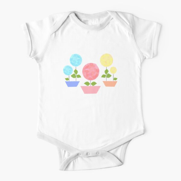 BABY FLOWERS Short Sleeve Baby One-Piece