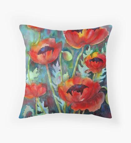Ladies in Scarlet Throw Pillow
