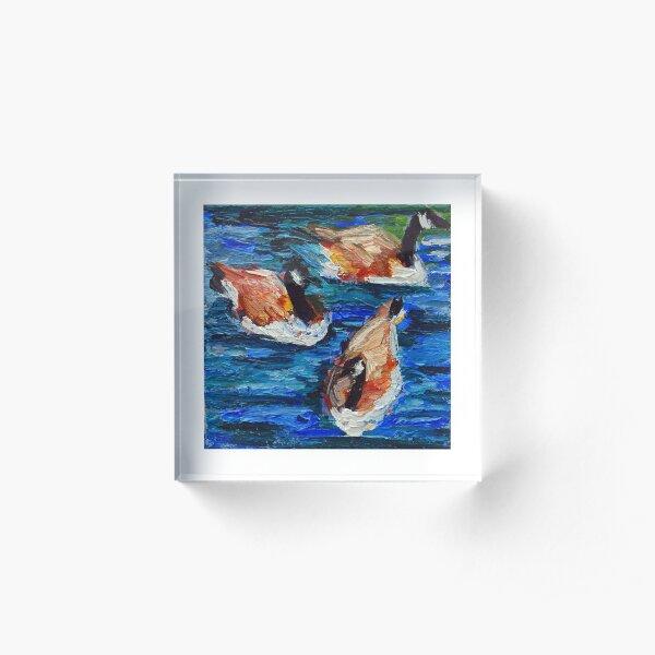 Canada Geese Trio  Acrylic Block