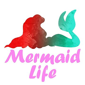 Mermaid Life Inspired Silhouette by InspiredShadows