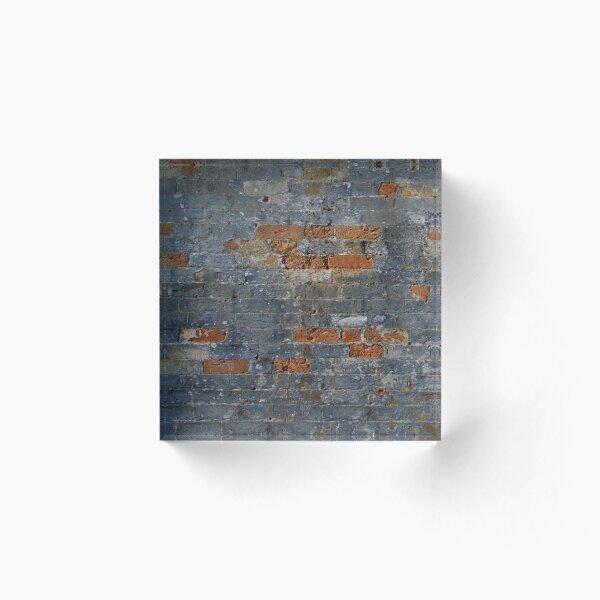 Grey Brick Wall Acrylic Block
