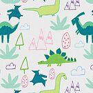 Dino Fun land Grey by susycosta